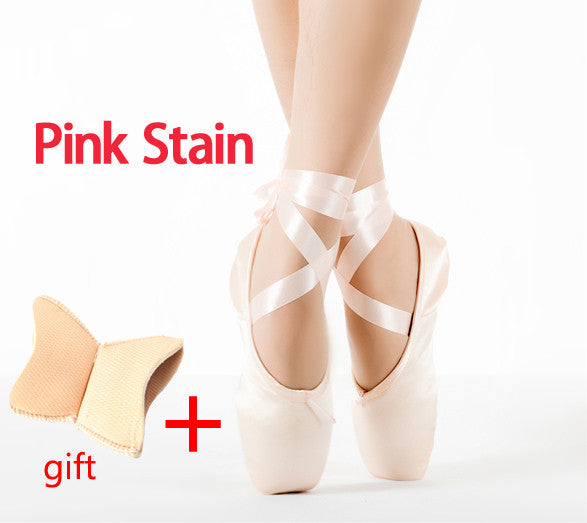 Discount Price Hot Sale Women's Ballet Pointe Dance Shoes Red Pink