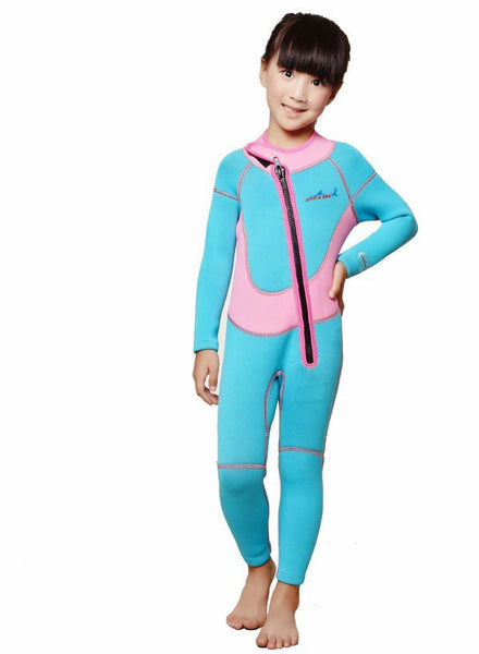 Free Shipping Neoprene Keep Warm Long-Sleeved Diving suits Wetsuit For Children 2.5mm Kids Swimwear Child Boys Girls Diving Suit