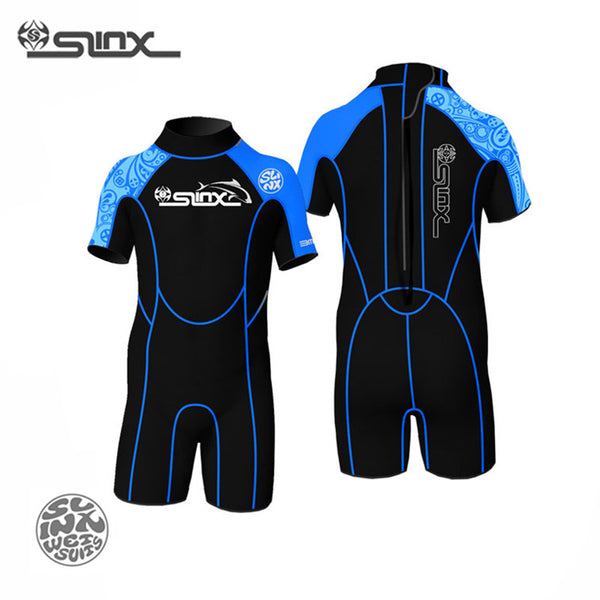 SLINX 1302 3mm Neoprene Children Kids Wetsuit Scuba Diving Suit Swimming Surfing Snorkeling Body Boarding Water Park Swimwear