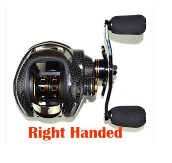 Double Brake Baitcasting Reel 17BB+1RB Fishing Gear Water Drop Wheel