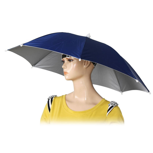 "Super sell 26"" Diameter Elastic Band Fishing Headwear Umbrella Hat"