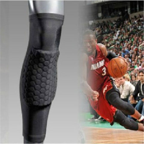 High Elastic Basketball Honeycomb Kneepad Long Sleeve Pad for Sports Leg Support Rodilleras Calf Guard Knee Protector Crus Brace
