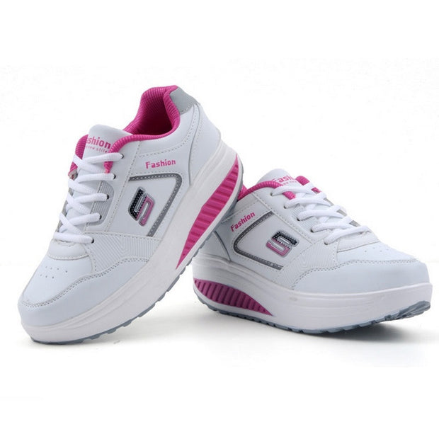 New 2017 Sneakers Women Running Shoes Women Autumn Shoes Leather