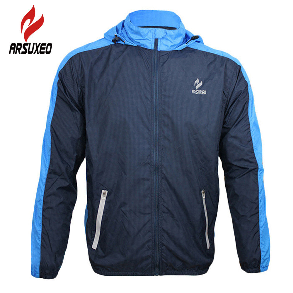 ARSUXEO Breathable Running Clothing Long Sleeve Jacke Wind Coat