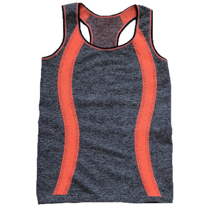 BINAND Women Slim Round Neck Running Vest Sleeveless Exercise T