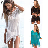 Sexy Bathing Suit Cover Ups Women Swimwear 2016 Pareo Beach Lace Cover Ups Swimsuit Summer Cotton V-Neck Women Beachwear 707
