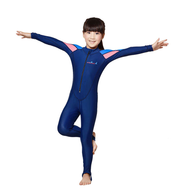 Free Shipping swimming dress Kids boys girls snorkeling clothing children's sun protection clothing child diving suit wetsuits