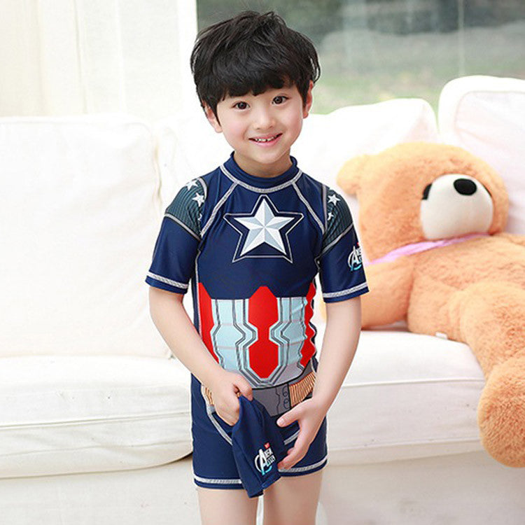 child swimsuit boy rashguard lycra surfing short sleeve swimsuit