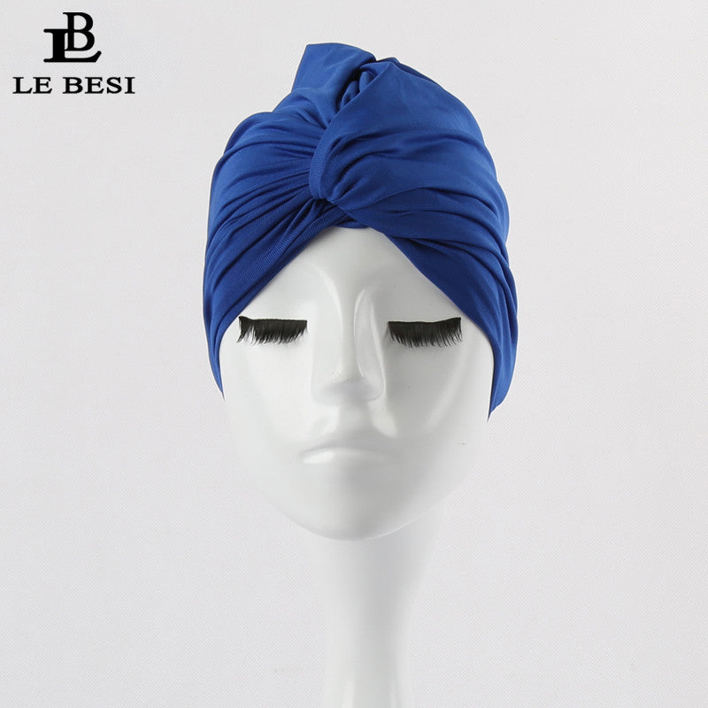 LE BESI 2016 Sexy Binder Beach Quick Dry Pleated knot Swimming Cap For