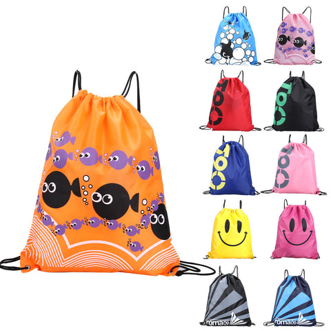 Double Layer Drawstring Gym Waterproof Backpacks wimming Sports Beach Bag Travel Portable Fold Mini Shoulder Bags ISP