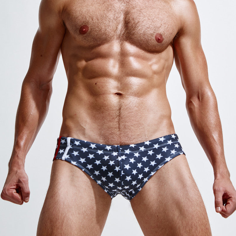 Superbody Brand five-pointed star Camouflage swimming trunks