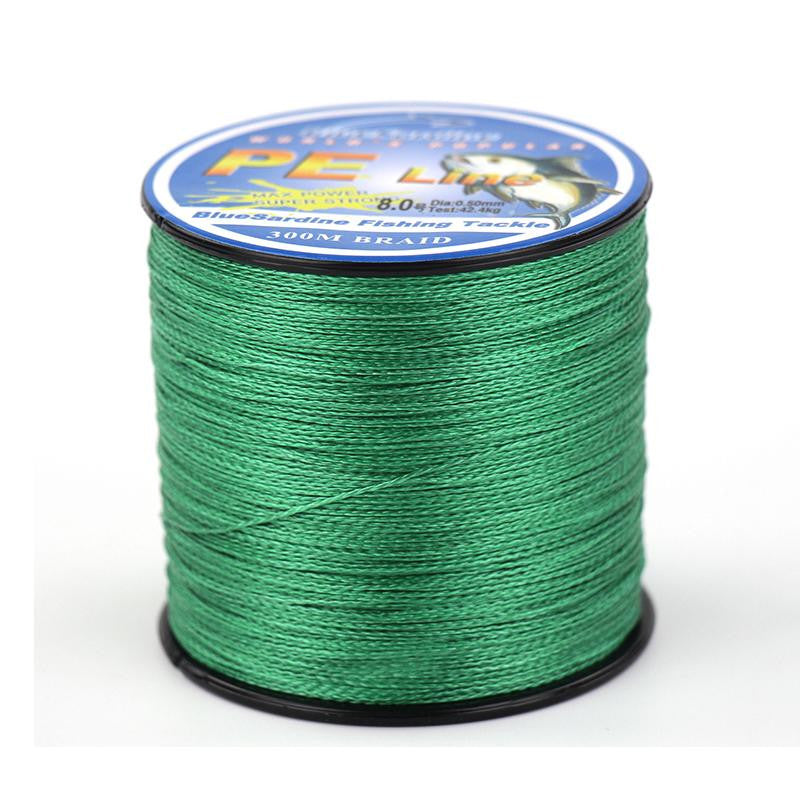 BlueSardine 300M Multifilament PE Braided Fishing Line Super Strong