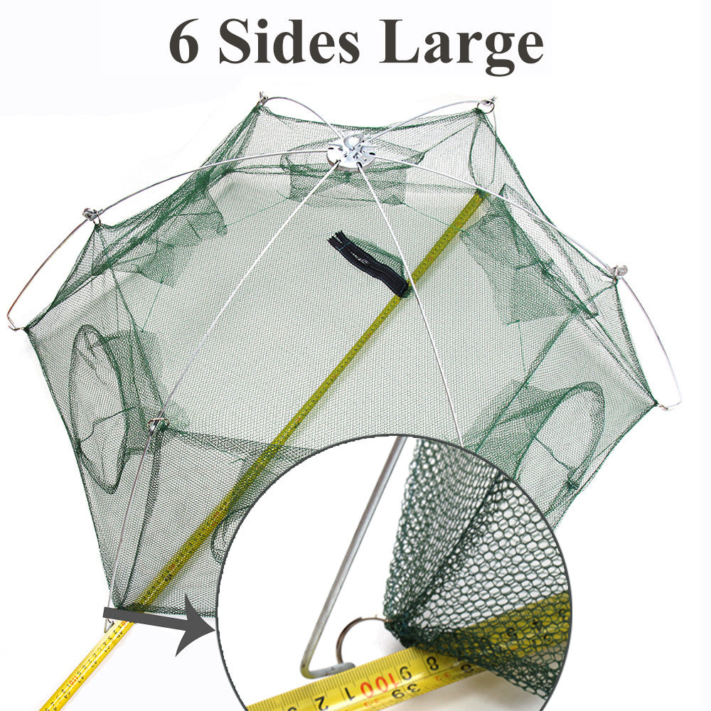 BlueSardine Large Fishing Net Shrimp Cage Nylon Mesh Net Small Fish