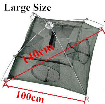 BlueSardine Fishing Net Shrimp Nets Large Cage Nylon Small Fish Trap
