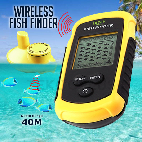 Ffw 1108 1 lucky fish finder wireless sensor portable dot for Lucky fish finder