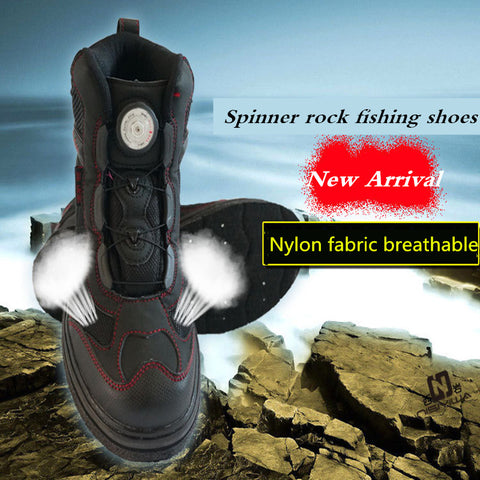 New Spinner rock Fishing Shoes Slip-Resistant Mesh Breathable Sport rock  Fishing Shoes Men Waterproof rock Fishing Waders Shoes