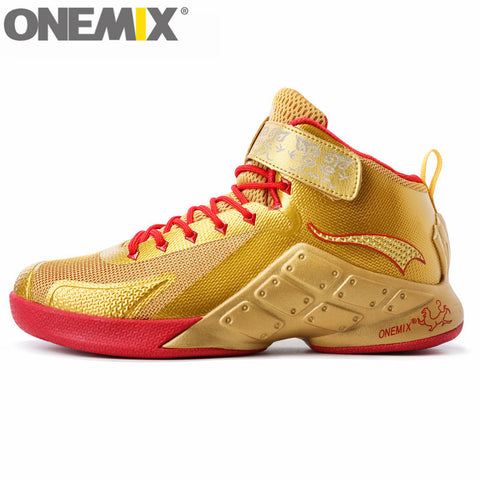 onemix Men Authentic Basketball Shoes Ankle Boots Style Culture for Women Breathable Authletic Trainer High-Top Rubber Sneakers