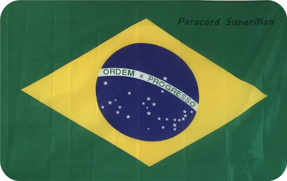 BR Brasil Banner Flag 3x 5ft Hanging Flag Polyester Brazil National