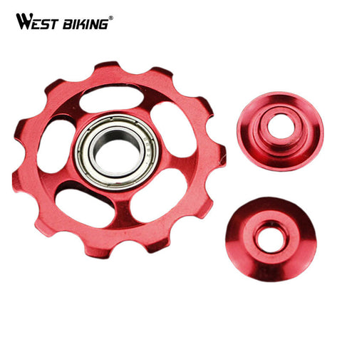 WEST BIKING MTB Bike Bicycle 11T Rear Bicycle Derailleur Pulley Jockey Wheel Aluminum Alloy Cycling Guide Roller Idler Pulley