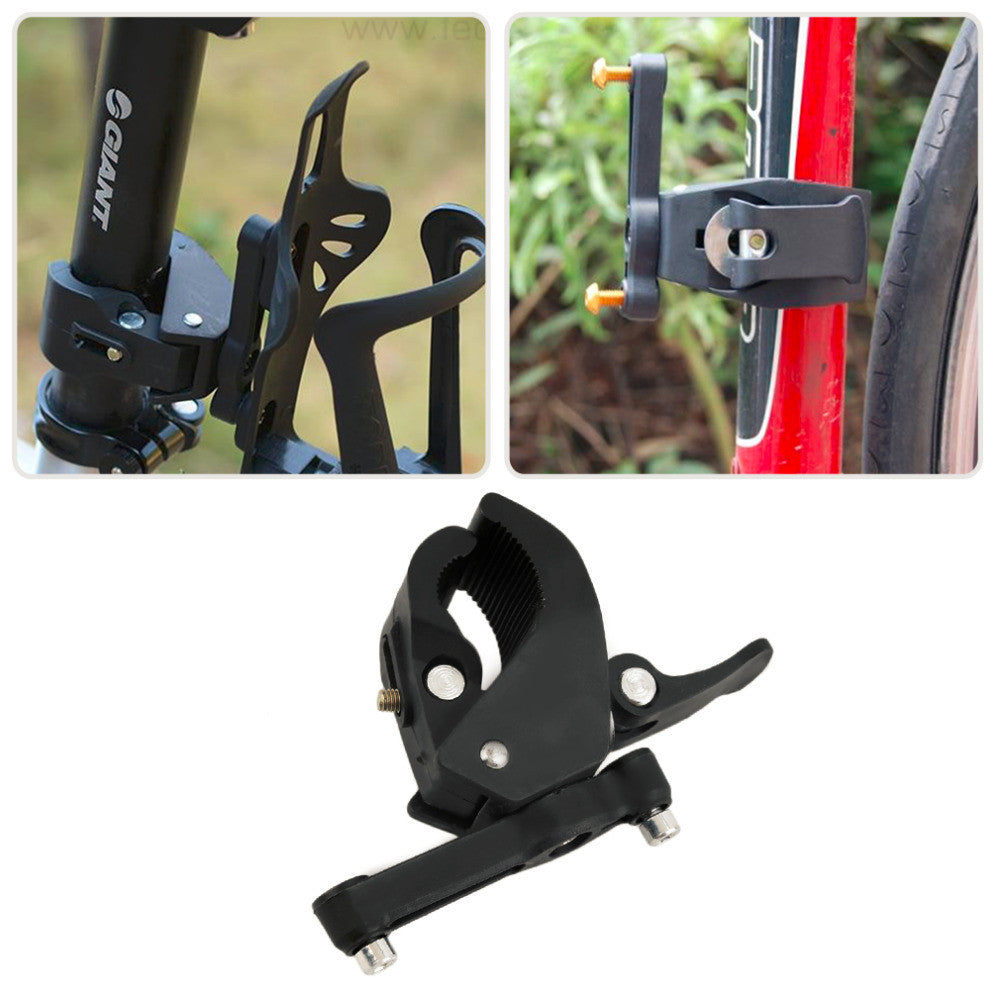 Bike Bicycle Cycling Handlebar Mount Water Bottle Cage Holder Rack