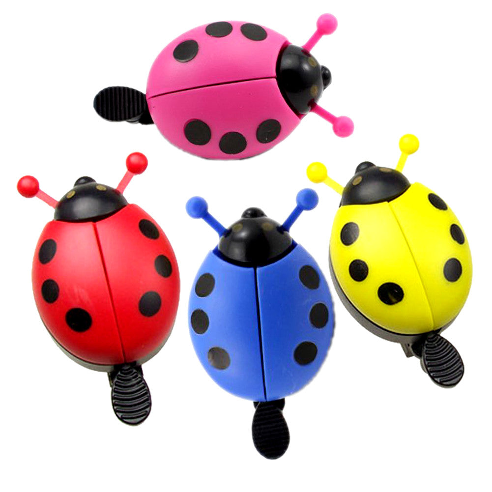 Bicycle Bell Cute Ladybug Up Cycling Bike Handlebar Horn Loud Ring