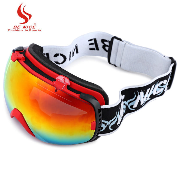 Be Nice Unisex Snowboard Goggles Double Sports Snow Ski Eyewear Anti