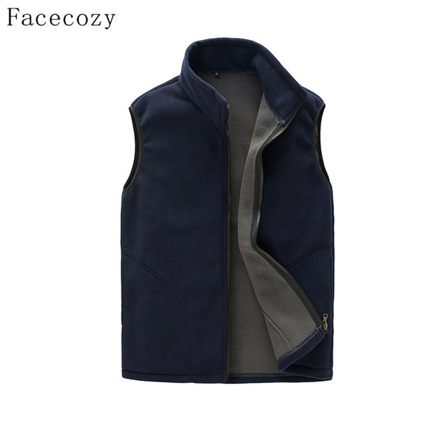 Facecozy Men Autumn Outdoor Sports Fleece Vest Winter Male Front