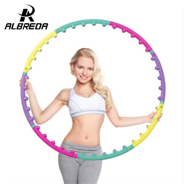 New arrival magnet fitness hula hoop massage hoops hula-hoop for