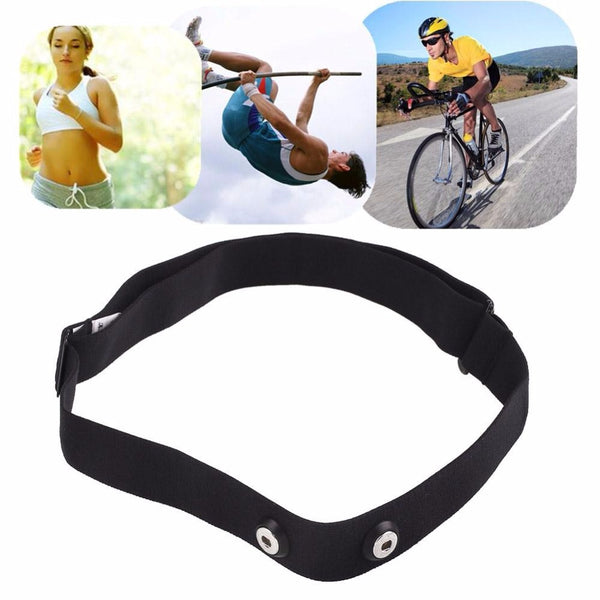 Black Adjust ChestBelt Strap Band Garmin Wahoo Polar Sport HeartRate Monitor For Outdoor Running Fitness