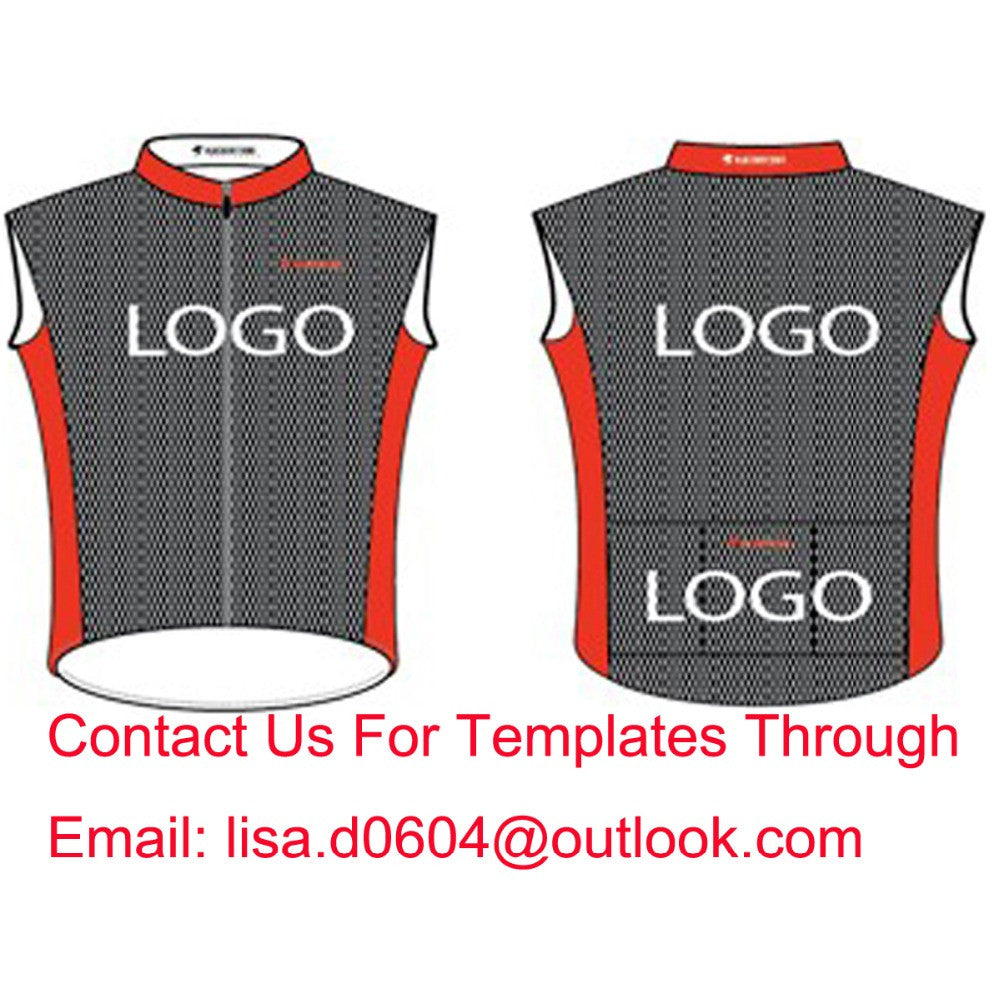 Custom Cycling Vest Sleeveless Jersey Bike Gilets Windproof Thermal