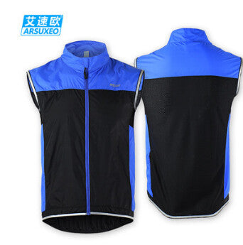 ARSUXEO Reflective Breathable Quick Dry Windproof Cycling Bike Vest