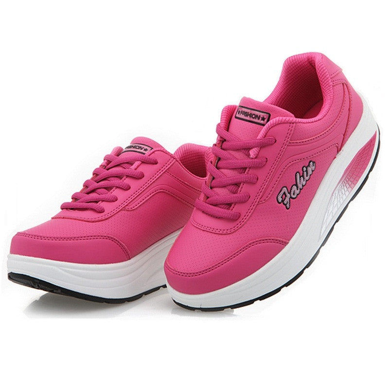 Brand women sneakers women running shoes breathable leather walking
