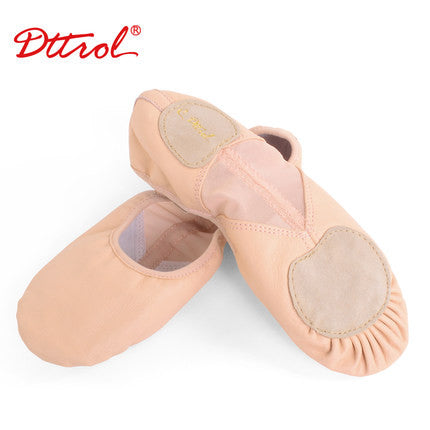 children soft sole girls leather ballet shoes Women Ballet Dance Shoes