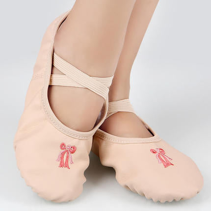Black pink ballet dance shoes children adult ballet slippers pu