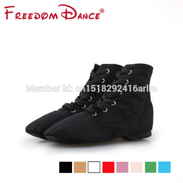 Wholesale Cloth Jazz Ballet Dance Shoes Split Suede Leather Outsole