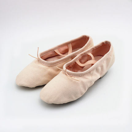 canvas jazz shoes slip on soft split sole modern dance shoes gym