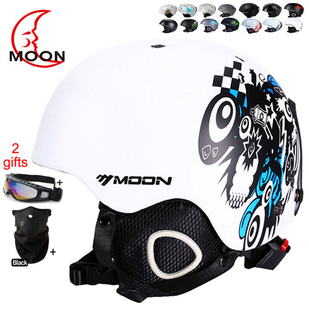 MOON Skateboard Ski Snowboard Helmet Integrally-molded Ultralight