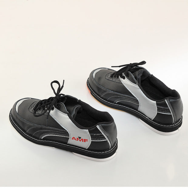 Professional bowling shoes men women special sports shoes orange and