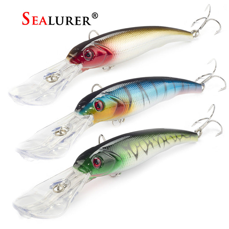 3PCS/Lot SEALURER Fishing Lure Big Float Minnow Artificial Plastic
