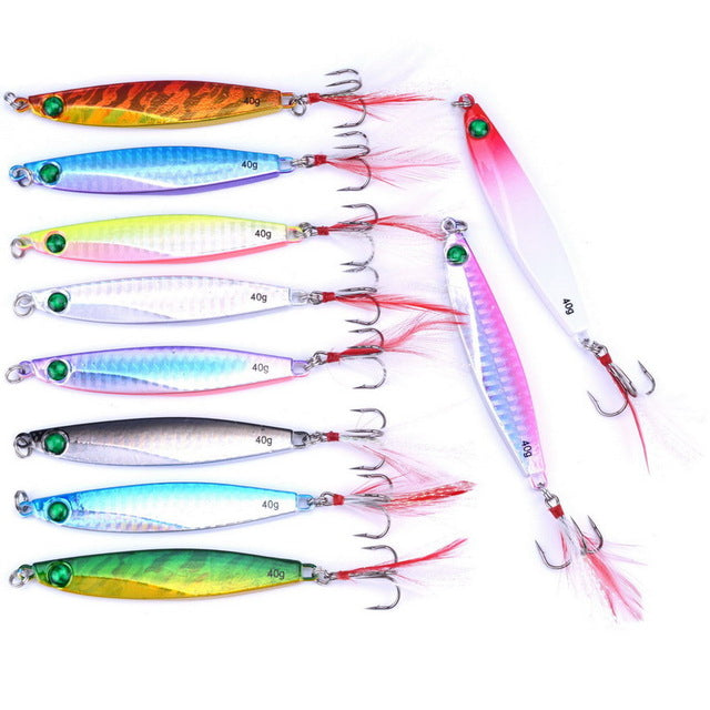 10PCS 7g 10g 14g 17g 21g 28g 40g Metal Lure Fishing Spoon Sea