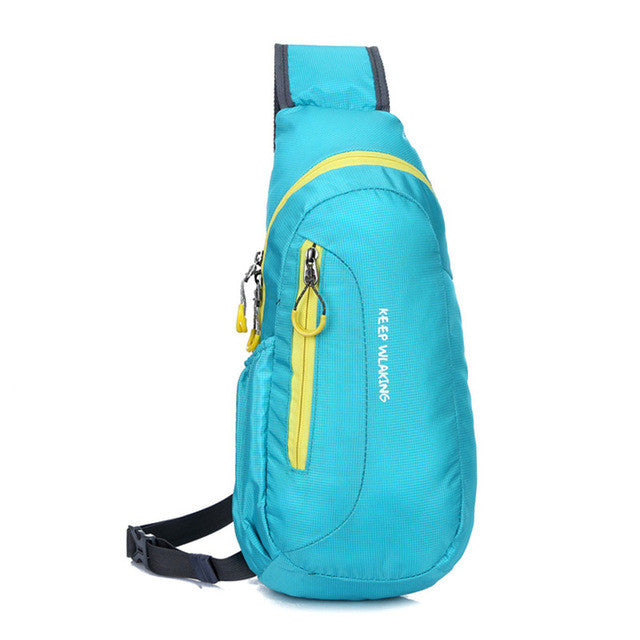 Brand New Unisex Waterproof Nylon Chest Bag Men Women Running Shoulder