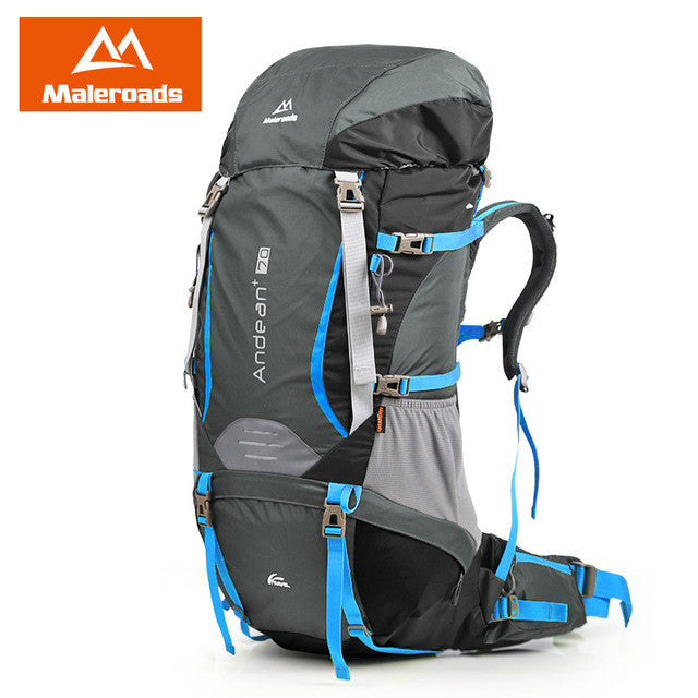 Best! Large 70L Maleroads Professional CR System Climb backpack Travel