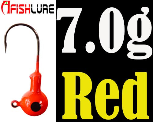 5pcs/lot Jig Head lead head hook 2g/3.5g/5g/7.0g/10g/14g luminous soft