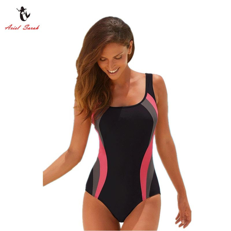 Ariel Sarah Brand 2017 Hot Solid Swimsuit Swimwear Women One Piece