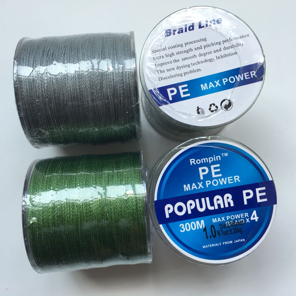 300M PE Braided Fishing Line 4 stands Japan Multifilament 4 Super