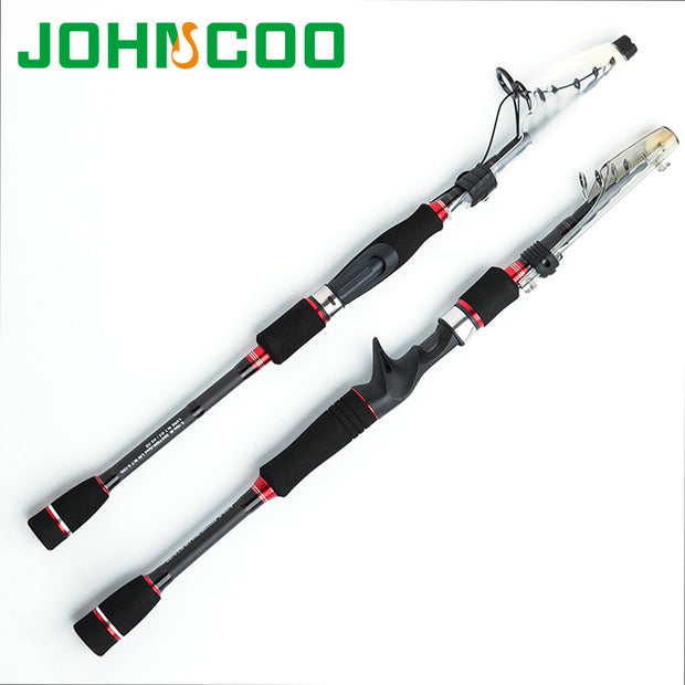 Baitcasting Carbon Fishing Rod 1.95m 2.1m 2.4m 2.7m Telescopic