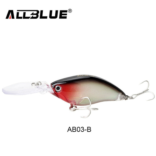 ALLBLUE Floating Deep Diving Crankbait Fishing Lures 17.8g/70mm