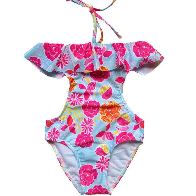 Cute Baby Girl Swimwear One Piece&Two Pieces with Flowers Pattern