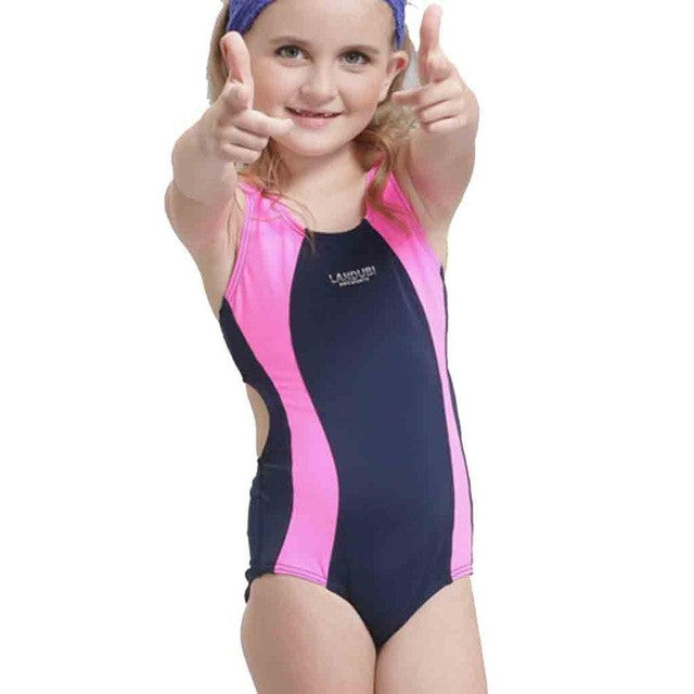 Children Girls Swimsuit Sport One Piece Bathing Suits for Beach Pool