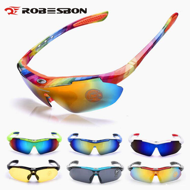ROBESBON Sport Night Cycling Glasses Men Women Running Fishing Sun